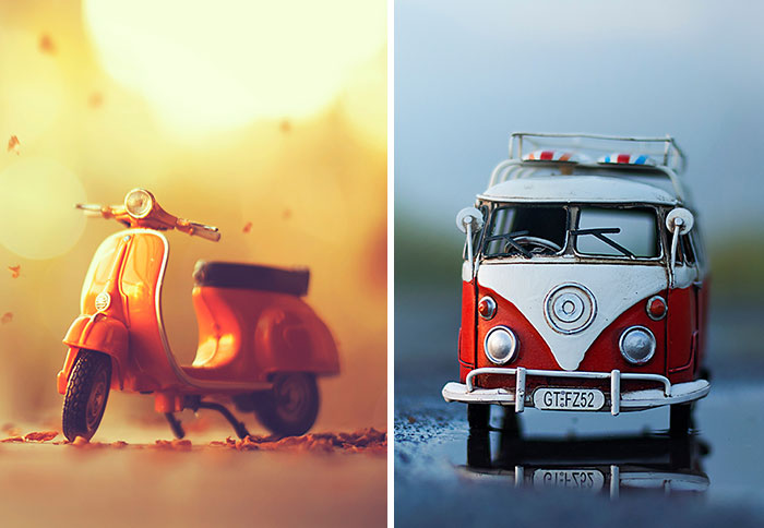 I Create Atmospheric Miniature Car Scenes That Remind Me Of My Childhood