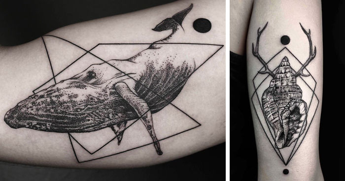 Geometric Tattoos By Turkish Artist Okan Uckun Bored Panda