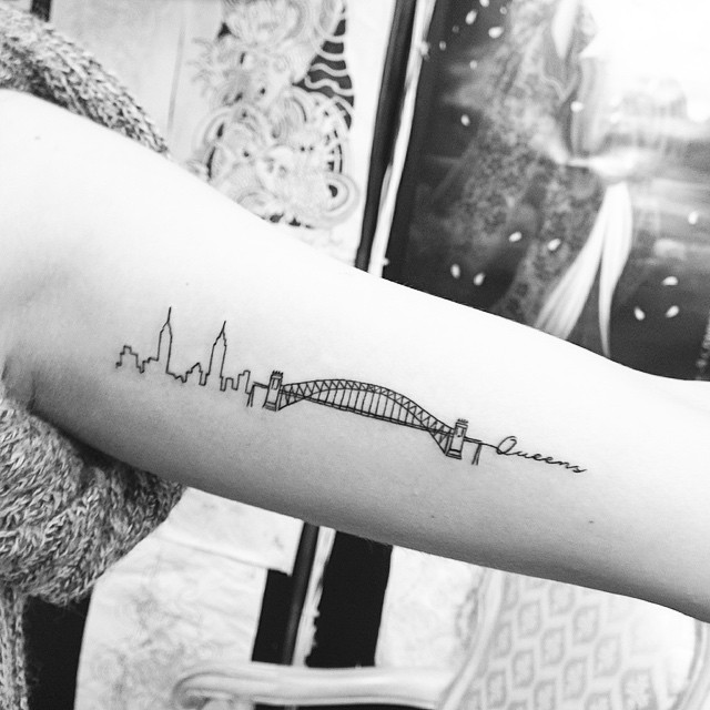 minimalist tattoo art by the famous jonboy who inked