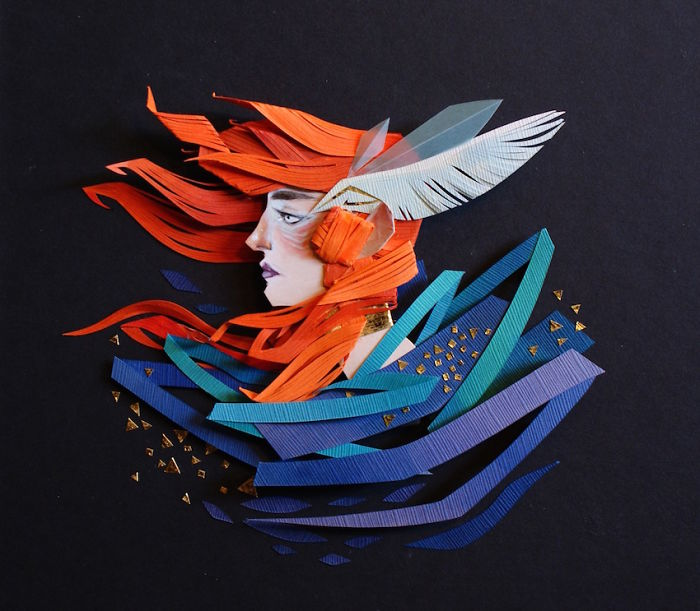 Mythical Cut Paper Illustrations By Morgana Wallace