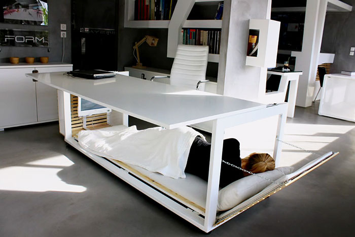 Nap Desk That Converts Into Bed And Lets You Sleep At Work