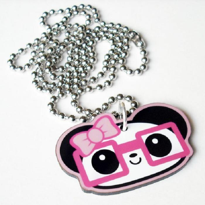 Nerdy Girl Panda Necklace