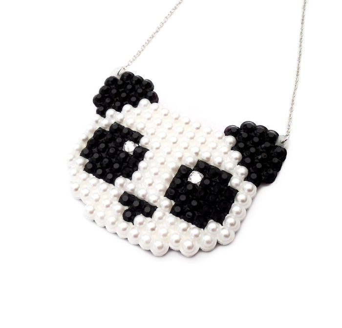 Velvetvolcano Sparkly Panda Necklace