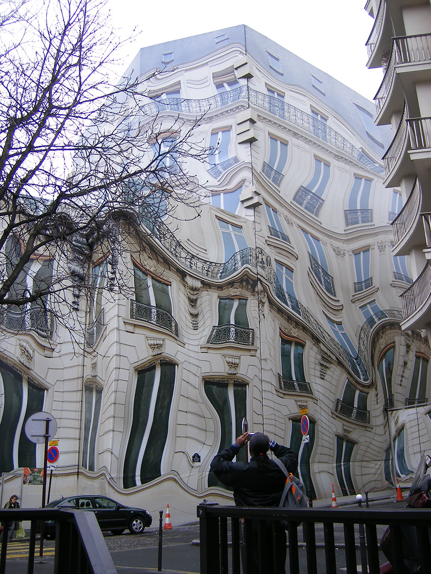 Hausmannian Building On Georges V Ave. In Paris