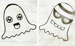 I Illustrated The Feelings Of Playful Ghosts In 7 Minutes