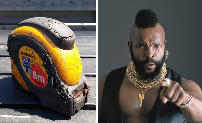 This Big T Tape Measure Looks Like Mr. T