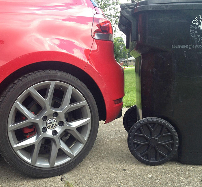 My Car And Garbage Can Have The Same Wheels