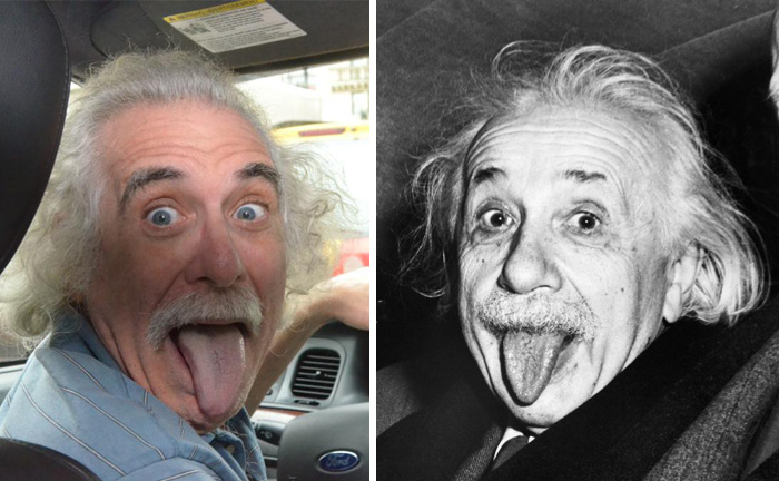 This Taxi Driver In NYC Looks Just Like Albert Einstein