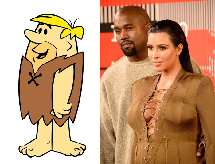 Kim Kardashian's Outfit Looks Like Barney Rubble's From The Flinstones