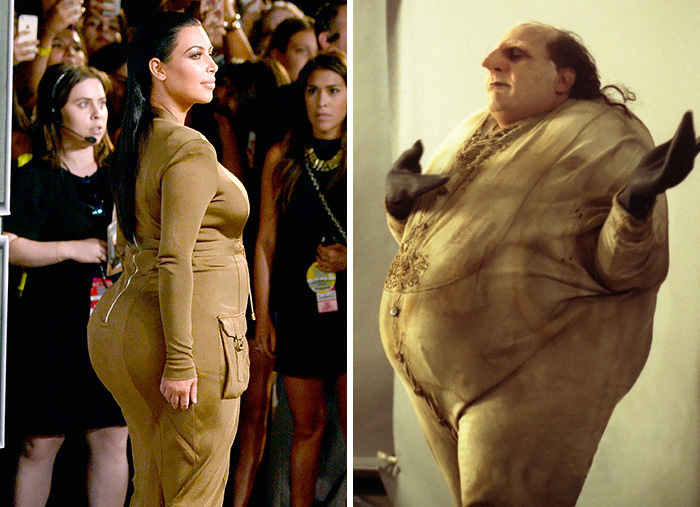 Kim Kardashian Looks Like The Penguin From Batman Returns