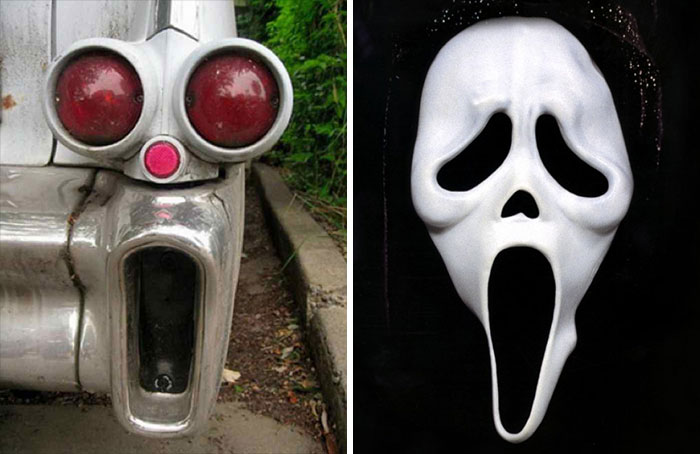 Taillights Look Like The Scream Mask