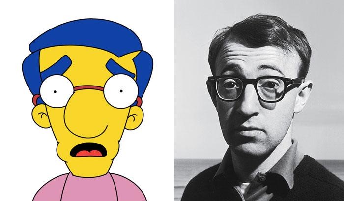 Milhouse Looks Like Woody Allen