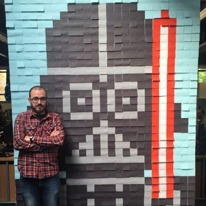 Workers Use 3,579 Post-It Notes To Turn Boring Office Walls Into Star Wars Murals