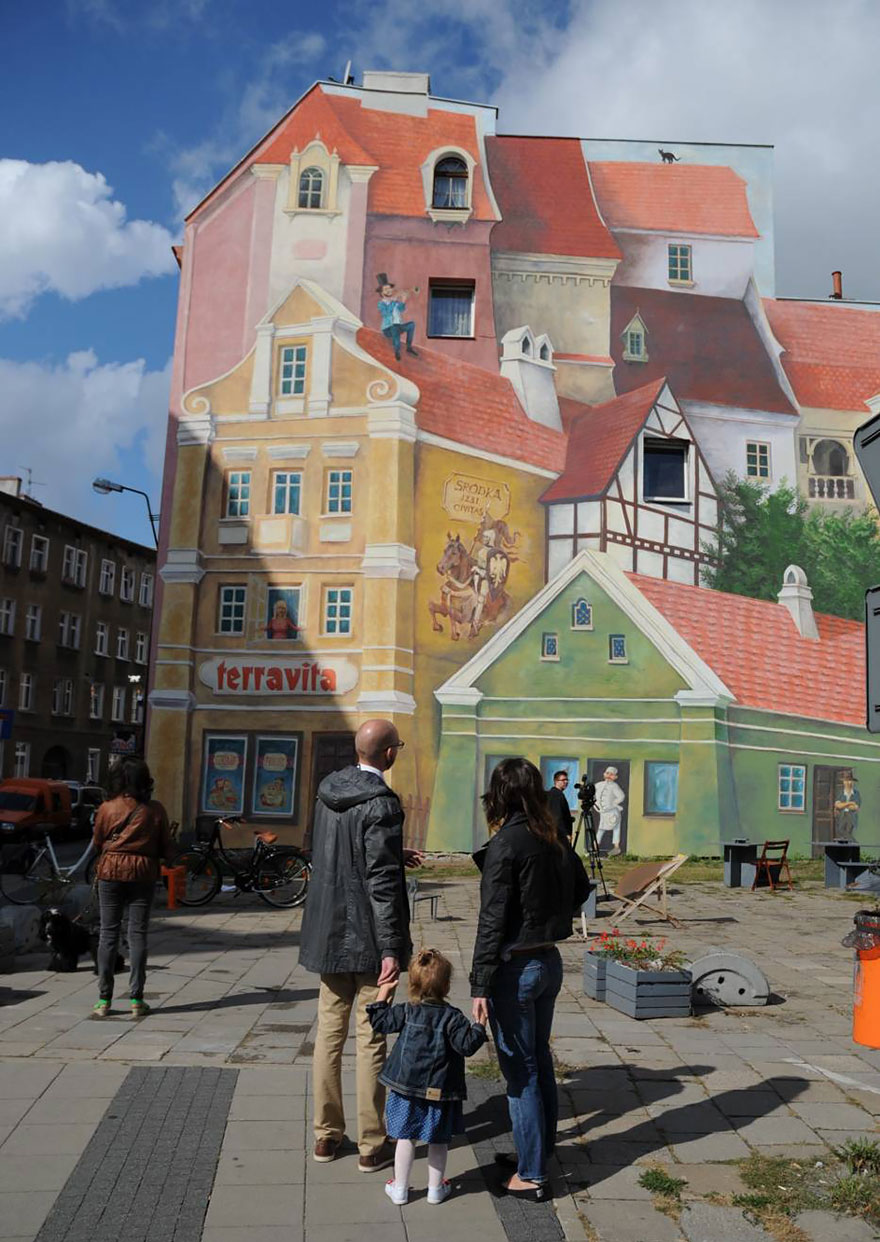 3d mural in poznan poland painted to remember historical - Mural de fotos ...