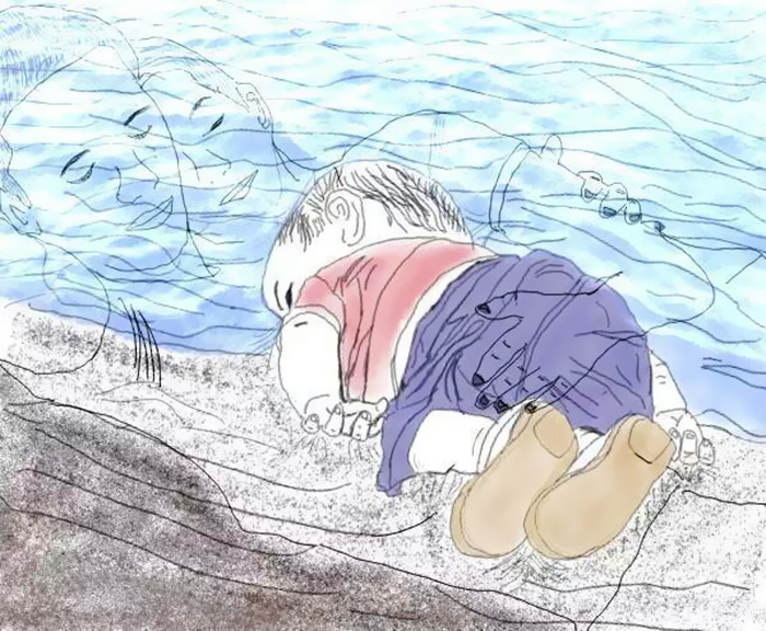 syrian-boy-drowned-mediterranean-tragedy-artists-respond-aylan-kurdi-15__700 - Artists react to the Syrian refugee boy who drowned - World Daily News
