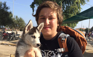 17-Year-Old Syrian Refugee Carried His Puppy 500km To Greece