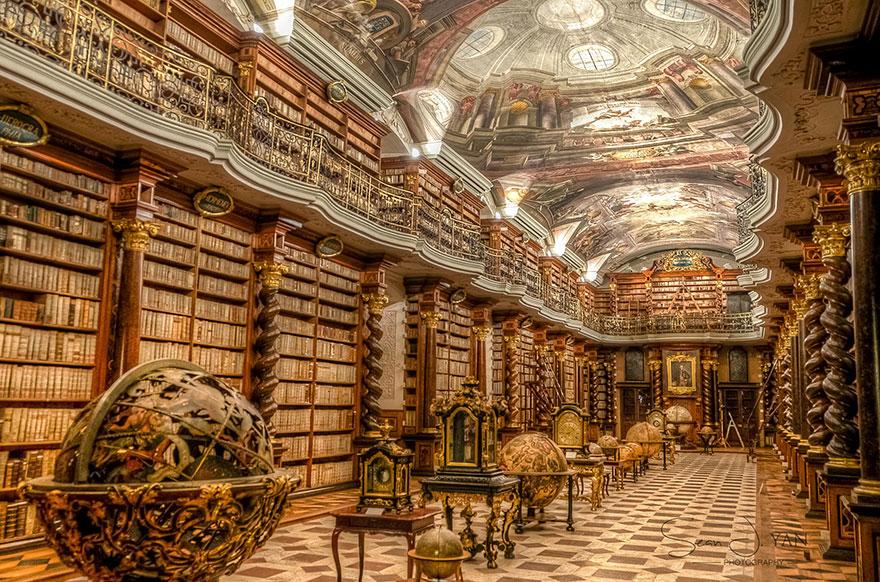 Viete kde sa nachádza údajne najkrajšia knižnica na svete? V PRAHE!