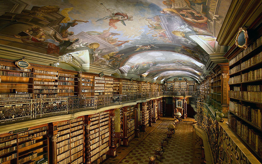 the world s most beautiful library is in prague czech