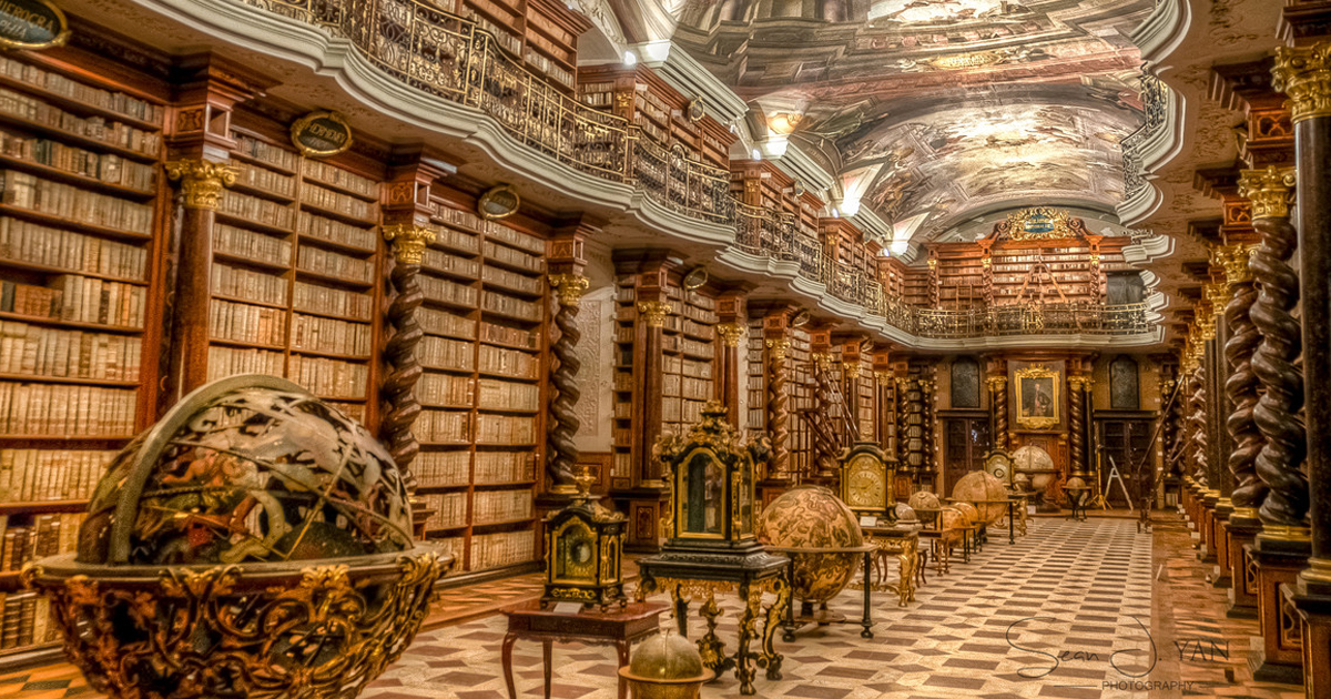 The Worlds Most Beautiful Library Is In Prague Czech