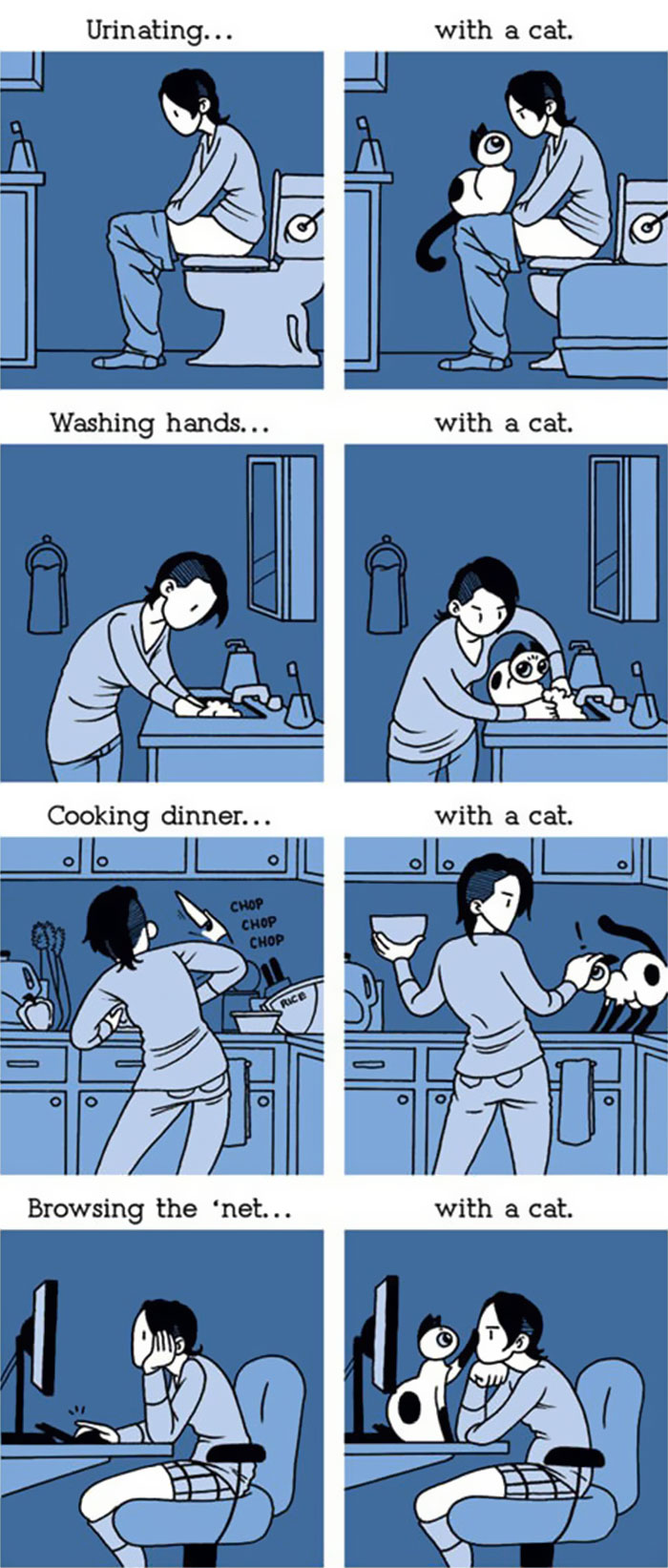 Funny Comics Reveal The Reality Of Owning A Cat Bored Panda - Illustrator perfectly sums up what its like to be a woman in funny comics