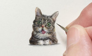 Unbelievably Tiny Paintings By Karen Libecap