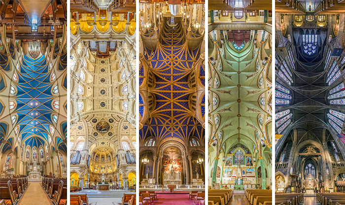 Vertical Panoramas of New York Churches by Richard Silver Inspired By Pope's Visit