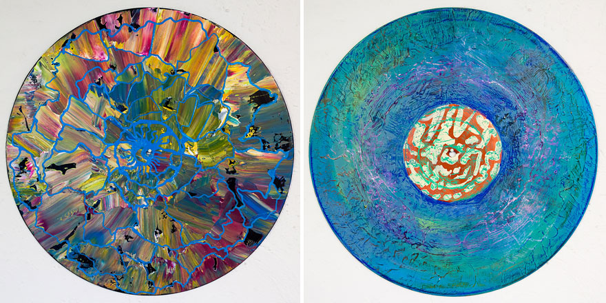 Art Therapist Paints Mandalas On Vinyl Records Bored Panda