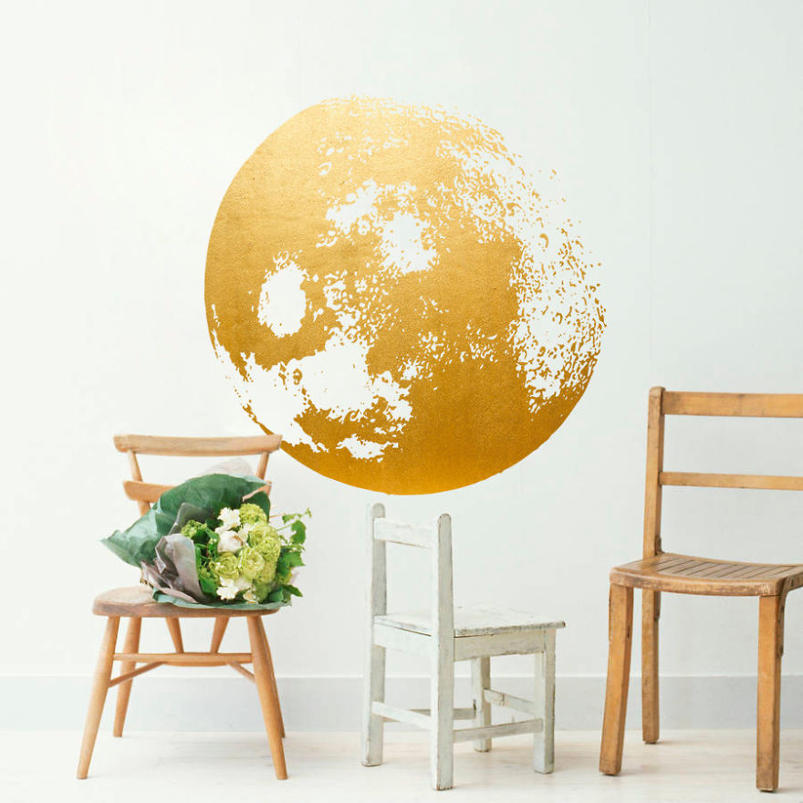 giant moon wall decal bored panda. Black Bedroom Furniture Sets. Home Design Ideas