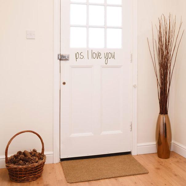 P. S I Love You Door Sticker