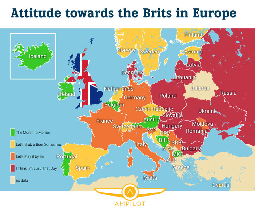 Who Loves And Hates The Brits In Europe | Bored Panda