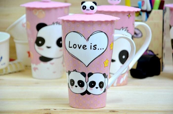 """love Is""panda Mug"