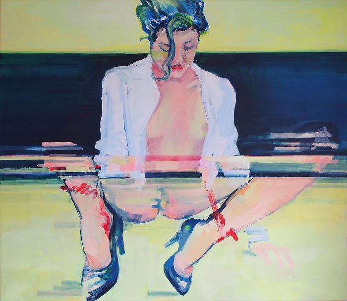 Glitch Art On Canvas