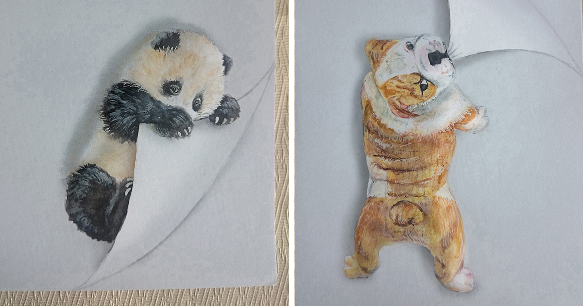 my animal drawings try to leap off the page bored panda