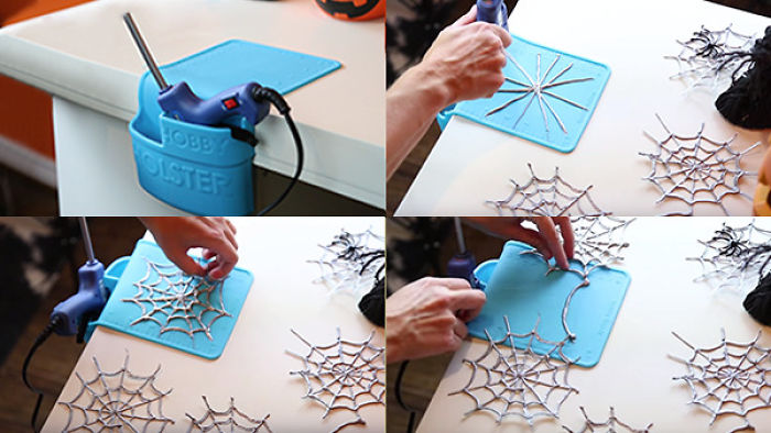 How To Make A Halloween Spiderweb Garland With A Glue Gun…so Easy, It's Scary!