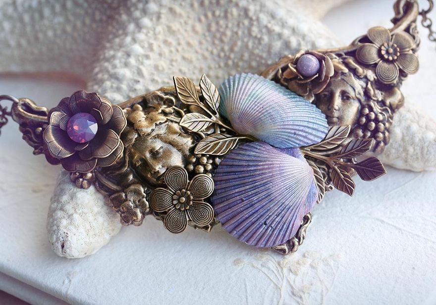 Artist Turns Seashells Into Beautiful Jewelry | Bored Panda