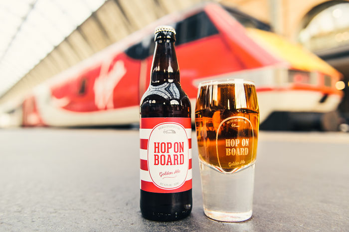 The Hoptimist Pint Glass By Virgin Trains