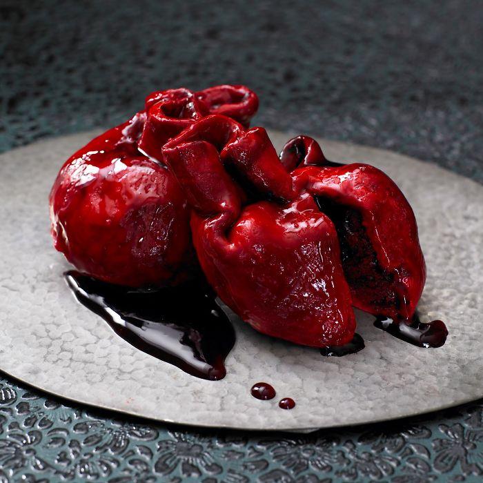 Lily Vanilli's Bleeding Heart Cake