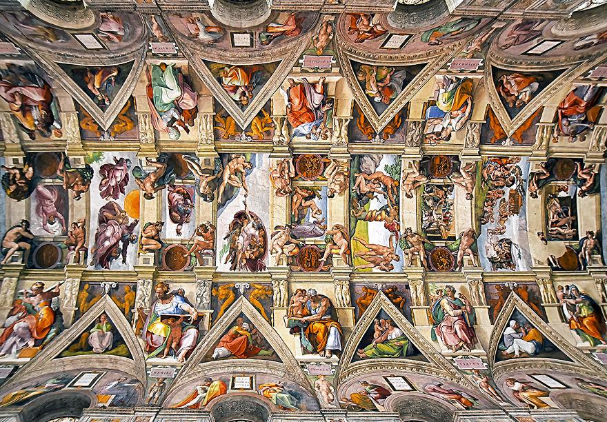 Churches of rome the beauty of the ceilings of the city for Decorazione quattrocentesca della cappella sistina
