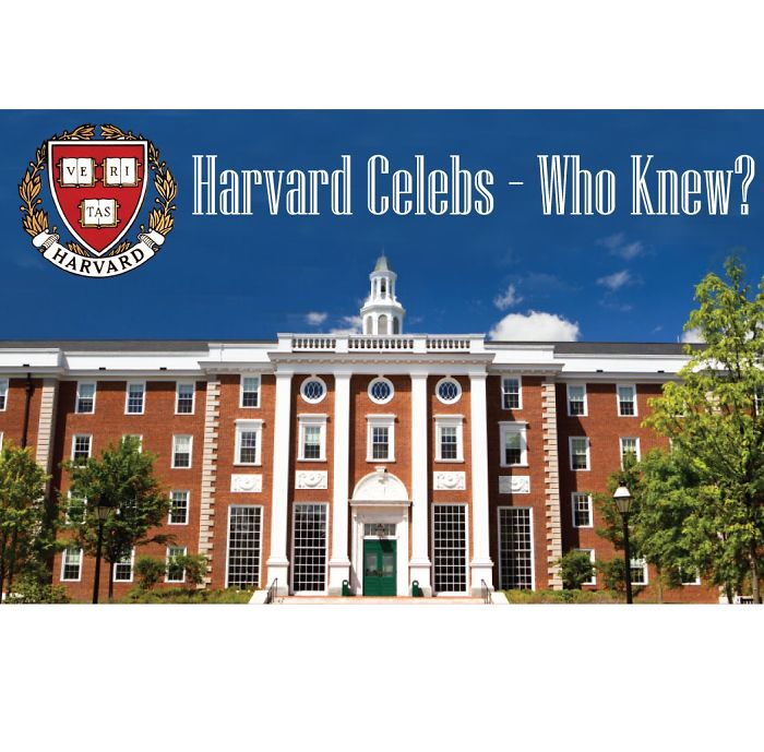 Celebrities Who Studied In Harvard