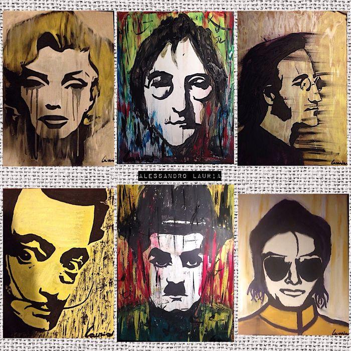 Celebrity Portraits By Italian Artist Alessandro Lauria