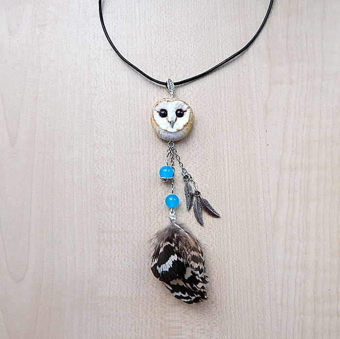 Barn-owl Pendant