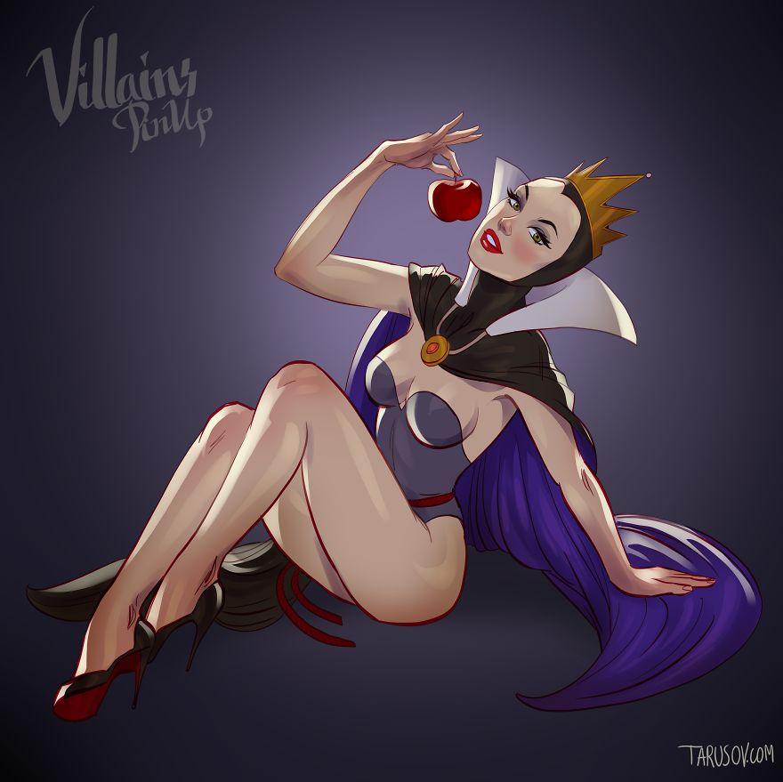 I Illustrated Disney Villains As Pin-Up Girls