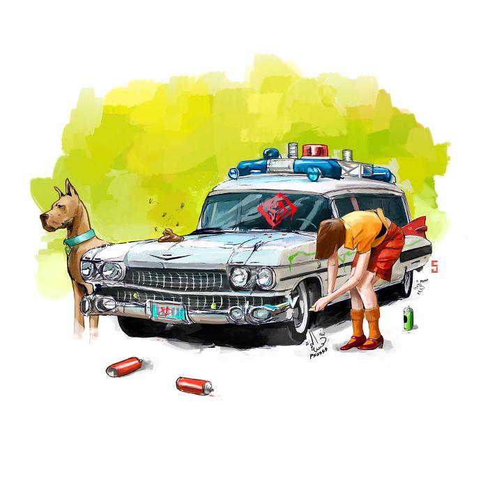 Poking Fun: I Illustrated Pop Culture Vandalism