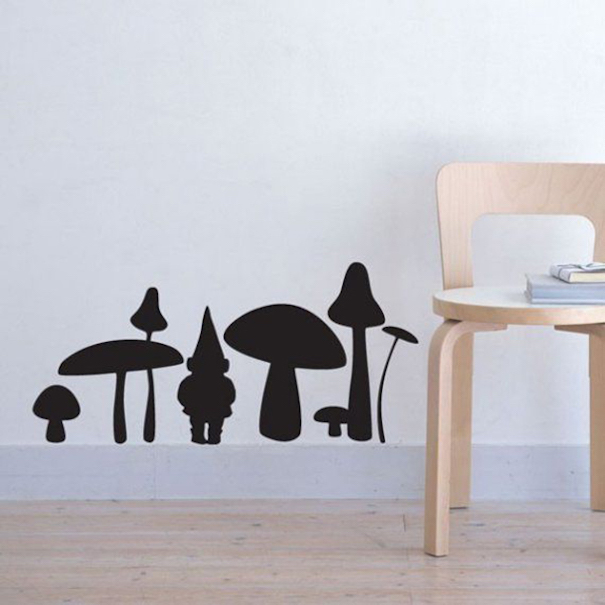 Gnome And Mushroom Decal
