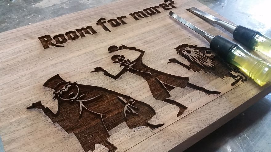 How To Make A Spooky Cutting Board That Glows In The Dark Bored Panda