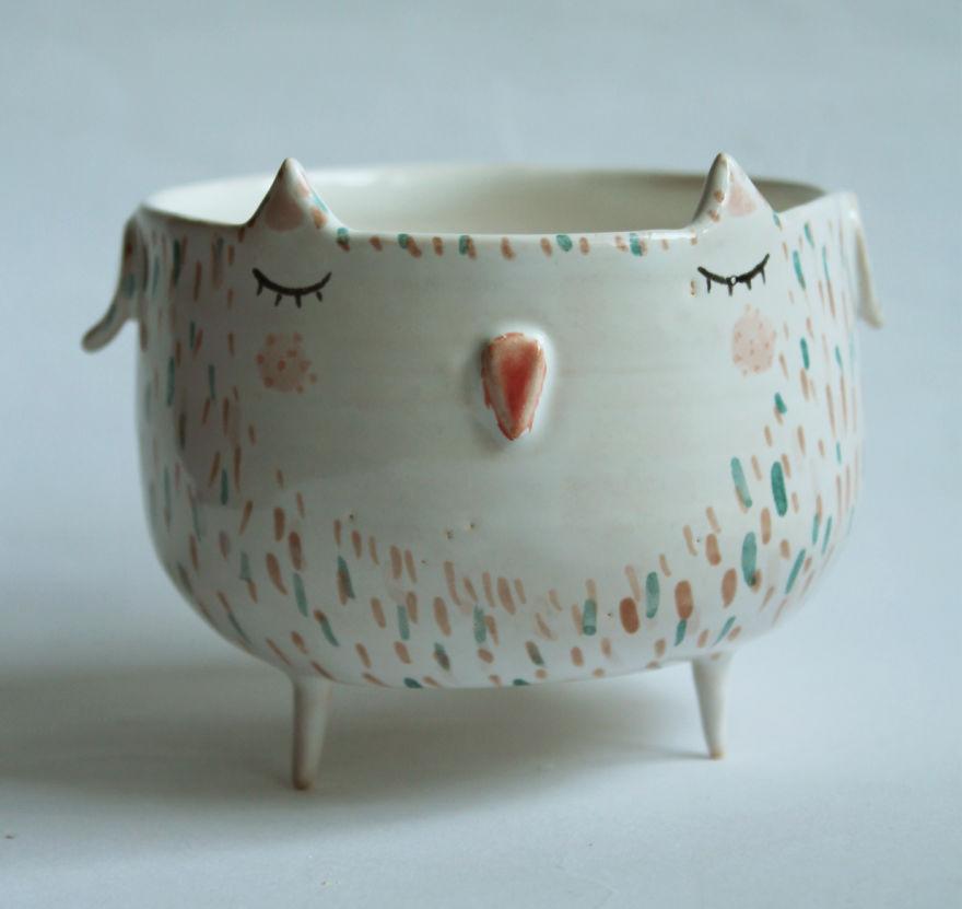 Adorable Animal Ceramics By Polish Artist Clay Opera