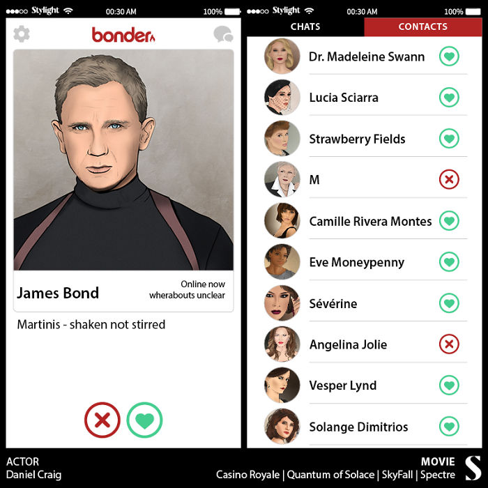 Imagine If James Bond Had Tinder…
