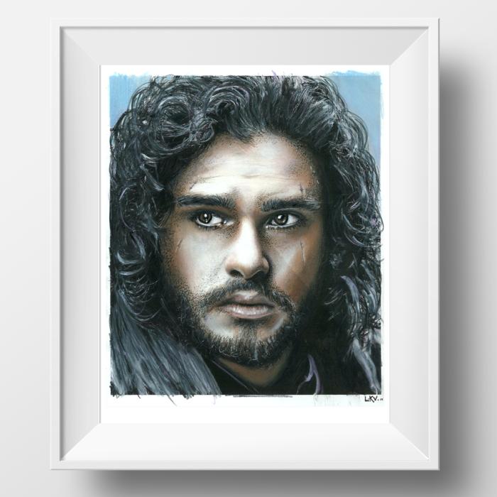 """jon Snow"" Portrait By @lana.van"