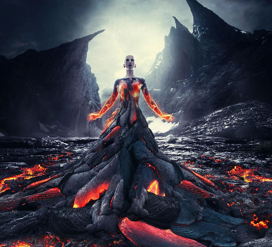 Una fotógrafa Checa crea diosas espectaculares a partir de la furia de los elementos