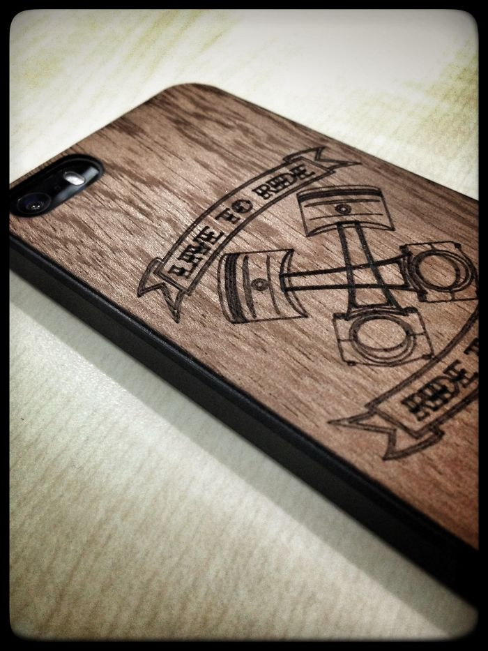 M.a.d.t Wooden Phone Back Covers With Lazer Burn